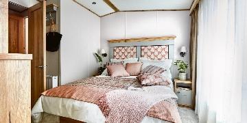 main bedroom in caravan for sale at Silverbow