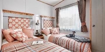 Twin bedroom in caravan for sale in Cornwall