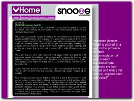 http://www.snoooze.co.uk/ website