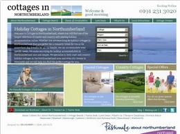 https://www.cottagesinnorthumberland.co.uk/ website