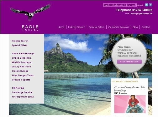 http://www.eagletravel.co.uk website
