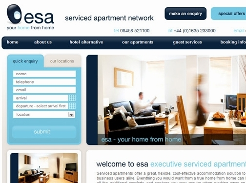 http://www.esa-servicedapartments.co.uk/ website